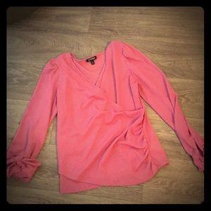 Bubble Gum Color Wrap Style Shirt Size M